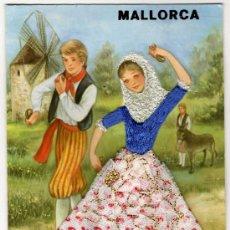 Postales: PRECIOSA POSTAL - MALLORCA - PAREJA DE MALLORQUINES BAILANDA CON TRAJE REGIONAL . Lote 17635901