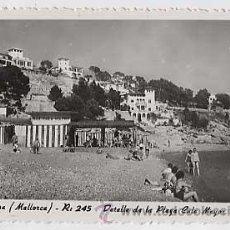 Postales: PALMA DE MALLORCA. DETALLE DE LA PLAYA CALA MAYOR. ED. ROTGER. ZERKOWITZ. SIN CIRCULAR. Lote 14951509