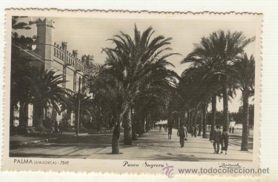 PALMA DE MALLORCA VISTA DE EL PASEO SAGRERA Y LA LONJA DE PALMA (Postales - España - Baleares Moderna (desde 1.940))
