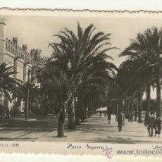 Postales: PALMA DE MALLORCA VISTA DE EL PASEO SAGRERA Y LA LONJA DE PALMA. Lote 25494582