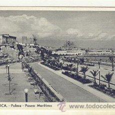 Postales: PALMA DE MALLORCA VISTA DE EL PASEO MARITIMO MOLINOS Y CATEDRAL. Lote 25494583