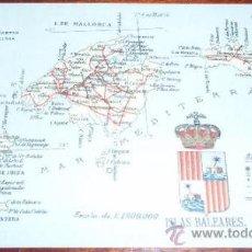 Postales: POSTAL MAPA ISLAS BALEARES - ALBERTO MARTIN. Lote 20258697