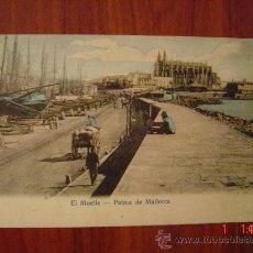 Postales: PALMA DE MALLORCA - EL MUELLE. Lote 15449244