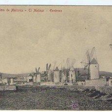 Postales: PALMA DE MALLORCA - EL MOLINAR, EDIT. A.M. BINITA POSTAL DE ÉPOCA, SIN CIRCULAR, NUEVA. . Lote 25983069