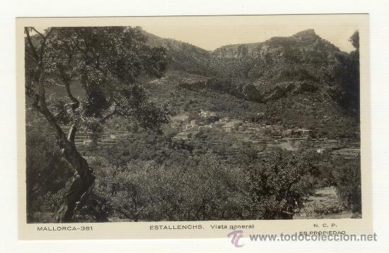 RARA POSTAL ESTELLENCS ESTALLENCS MALLORCA (Postales - España - Baleares Moderna (desde 1.940))