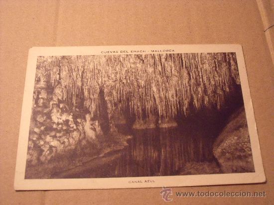 ANTIGUA POSTAL DE CUEVAS DEL DRACH. CANAL AZUL. SIN CIRCULAR. POSTAL 274 (Postales - España - Baleares Moderna (desde 1.940))
