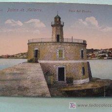 Postales: ANTIGUA POSTAL. AÑOS 1910 - 1920. NR 42. PALMA DE MALLORCA, FARO DEL PUERTO.. Lote 17502489