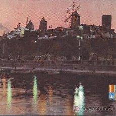 Postales: PALMA DE MALLORCA- MOLINOS EN EL PASEO MARITIMO-POSTAL ICARIA. Lote 21506094