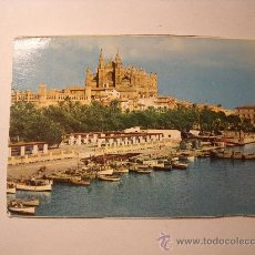 Postales: POSTAL DE PALMA DE MALLORCA. CATEDRAL Y DETALLE DEL PUERTO. SIN CIRCULAR. P-1532. Lote 17751552