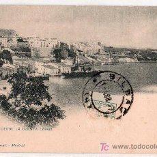 Postales: TARJETA POSTAL DE MAHON, MENORCA. VISTA DESDE LA CUESTA LARGA. 1317 HAUSER Y MENET. Lote 26466908