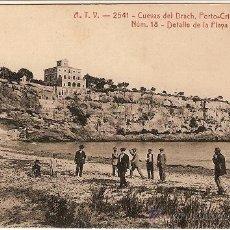 Postales: 0344 -CUEVAS DEL DRACH- PORTO - CRISTO (MANACOR) - DETALLE DE LA PLAYA A.T.V. - 2541 Nº18. Lote 26357031