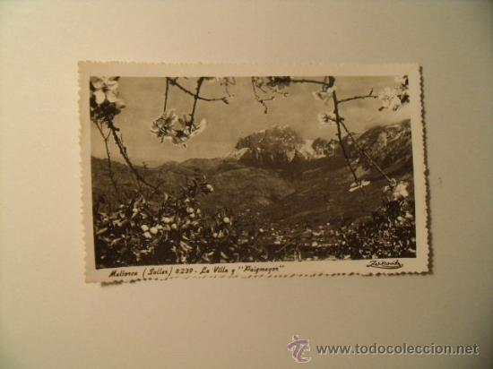 POSTAL DE MALLORCA. SOLLER.LA VILLA Y EL PUIG MAYOR. CIRCULADA AÑO 1952. POSTAL 63 (Postales - España - Baleares Moderna (desde 1.940))