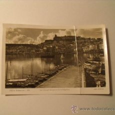 Postales: POSTAL DE IBIZA. LA CIUDAD DESDE EL CLUB NAÚTICO. FOTO VIÑETS. CIRCULADA AÑO 1954. POSTAL 77. Lote 19126876