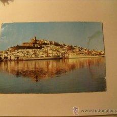 Postales: POSTAL DE IBIZA, DEL PUERTO. AÑO 1963. CIRCULADA CON DOS SELLOS DE FRANCO. POSTAL 153. Lote 19376558