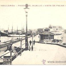 Postales: PS2267 PALMA DE MALLORCA 'PASEO DEL MUELLE Y VISTA DE PALMA Y CATEDRAL'. J. PENSABENE. SIN CIRCULAR. Lote 19378865