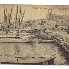 Postales: PALMA DE MALLORCA - VISTA PARCIAL DEL PUERTO - 7152 FOTOTIPIA THOMAS. Lote 26603110