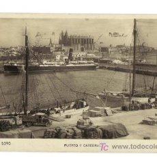 Postales: PALMA DE MALLORCA - 5390 - PUERTO Y CATEDRAL - ZERKOWIRTZ. Lote 26603111