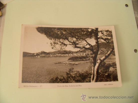 POSTAL IBIZA. SANTA EULALIA DEL RÍO. Nº 27. FOTO VIÑETS. CIRCULADA SIN SELLO, AÑO 54. POSTAL 400 (Postales - España - Baleares Moderna (desde 1.940))