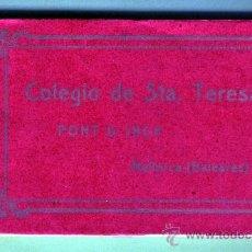 Postales: BLOC DE VENTE Y UNA POSTAL DE COLEGIO DE SANTA TERESA , PONT DE INCA MALLORCA PERFECTO VER FOTOS . Lote 25726746