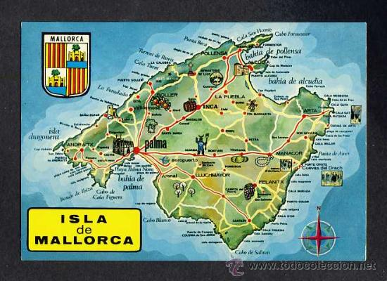 Postal De Mallorca Mapa Ed Palma Num 3610 Buy Postcards From