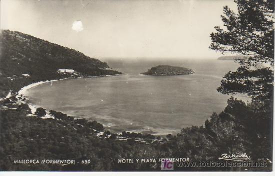 HOTEL Y PLAYA FORMENTOR.MALLORCA ZERKOWTIZ. MAS COLECCIONSIMO EN GENERAL EN RASTRILLOPORTOBELLO (Postales - España - Baleares Antigua (hasta 1939))