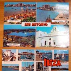 Postales: LOTE DE 2 POSTALES DE IBIZA - EIVISSA (ISLAS BALEARES).- AÑOS 70.. Lote 21761415