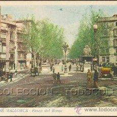 Postales: POSTAL BALEARES PALMA DE MALLORCA PASEO DEL BORNE . MIR CA AÑO 1940-50.. Lote 27444536