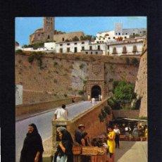 Postales: POSTAL - IBIZA - CIUDAD MURALLAS Y CATEDRAL - EXCLUSIVAS CASA FIGUERETAS - SIN CIRCULAR.. Lote 22110232