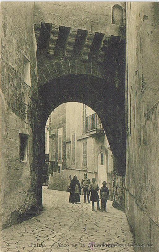 TARJETA POSTAL ESPAÑA MODERNA 1.940, PALMA DE MALLORCA, ARCO DE LA ALMUDAINA (Postales - España - Baleares Moderna (desde 1.940))