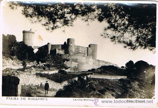 TARJETA POSTAL ESPAÑA MODERNA 1.940, PALMA DE MALLORCA, CASTILLO BELLVER (Postales - España - Baleares Moderna (desde 1.940))