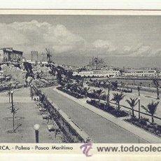 Postales: PALMA DE MALLORCA VISTA DE EL PASEO MARITIMO MOLINOS Y CATEDRAL. Lote 23337248