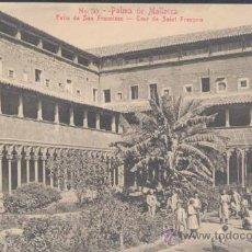 Postales: PALMA DE MALLORCA.- PATIO DE SAN FRANCISCO. Lote 24149247