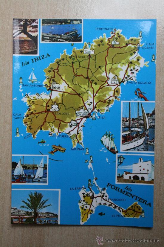 POSTAL DE IBIZA. ISLAS BALEARES (Postales - España - Baleares Moderna (desde 1.940))