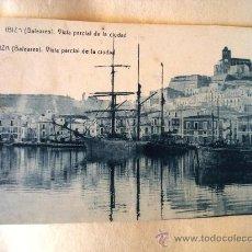 Postales: POSTAL ANTIGUA IBIZA. VISTA PARCIAL DE LA CIUDAD. FOTOTIPIA THOMÁS. . Lote 24550143