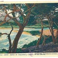 Postales: 7388 - MALLORCA ARTA BAHIA DE CANYAMEL Y CAMINO DE LAS CUEVAS EDICIONES MIR - Nº 33 -CIRCULADA 1941. Lote 26317372