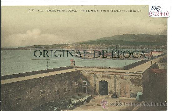(PS-22440)POSTAL DE PALMA DE MALLORCA-VISTA PARCIAL DEL PARQUE DE ARTILLERIA Y DEL MUELLE (Postales - España - Baleares Antigua (hasta 1939))