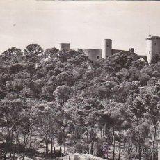 Postales: PALMA DE MALLORCA (BALEARES): CASTILLO DE BELLVER EN TARJETA POSTAL DE CASA PLANAS, CIRCULADA. Lote 27432512