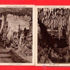 Postales: DOS POSTALES DE MALLORCA DE CUEVAS DEL DRACH . Lote 27487991