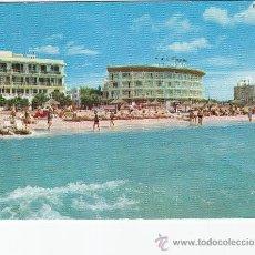 Postales: HOTEL ACAPULCO EL ARENAL PALMA DE MALLORCA (BALEARES). BONITA POSTAL CIRCULADA A INGLATERRA AÑOS 60. Lote 27586515