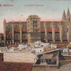Postales: PALMA DE MALLORCA BALEARES: LA CATEDRAL (ABSIDE). POSTAL NUM. 29 AM CIRCULADA 1916 A MILAN. CENSURA. Lote 27587136