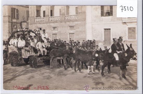 MAHON - AÑO 1925 - POSTAL FOTOGRAFICA - ( 7510) (Postales - España - Baleares Antigua (hasta 1939))