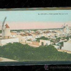 Postales: TARJETA POSTAL DE MAHON. MENORCA. Nº 10. VISTA GENERAL DE SAN LUIS. ED. BARTOLOME TUDURI. . Lote 28399017