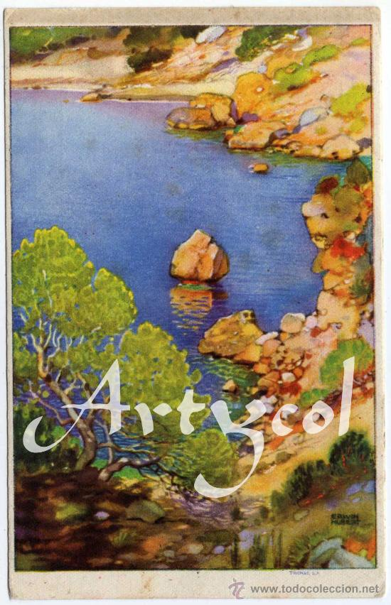 PRECIOSA Y RARA POSTAL - MALLORCA - ERWIN HUBERT - PHOMAS, S.A.- PUBLICIDAD DE CEREGUMIL (Postales - España - Baleares Moderna (desde 1.940))