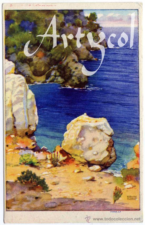 PRECIOSA Y RARA POSTAL - MALLORCA - ERWIN HUBERT - PHOMAS S.A. - PUBLICIDAD DE CEREGUMIL (Postales - España - Baleares Moderna (desde 1.940))