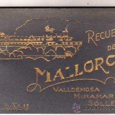Postales: RECUERDO DE MALLORCA, VALLDEMOSA, MIRAMAR Y SOLLER. V. B. Nº 11. FOTOGRAFICAS. 10 POSTALES.. Lote 28762100
