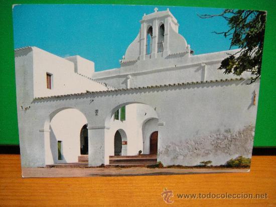 IBIZA IGLESIA DE SAN ANTONIO CIRCULADA - EXCLUSIVAS FIGUERETAS (Postales - España - Baleares Moderna (desde 1.940))