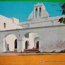 Postales: IBIZA IGLESIA DE SAN ANTONIO CIRCULADA - EXCLUSIVAS FIGUERETAS. Lote 29011539