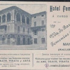 Postales: MANACOR (MALLORCA).- HOTEL FEMENÍAS. Lote 32973327