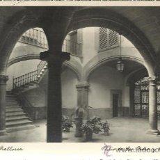 Postales: PALMA MALLORCA PATIO DE SAN PEDRO Y SAN BERNARDO ESCRITA. Lote 29972820