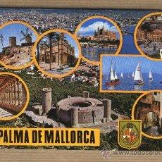 Postales: POSTAL PALMA DE MALLORCA. BALEARES. DIVERSAS VISTAS.FOTO CASA PLANAS.ESCRITA.. Lote 30077486